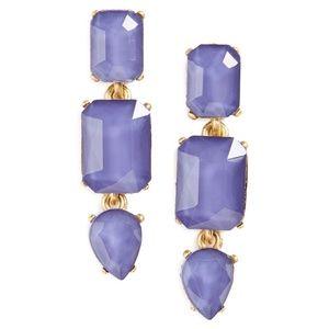 Loren Hope Blue Jeweled Drop Earrings